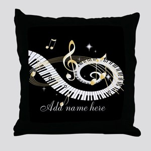 Personalized Piano Musical gi Throw Pillow